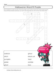 Halloween Printable Puzzle ELL