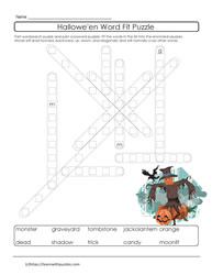 Halloween Vocabulary Puzzle