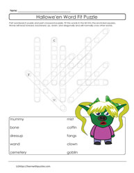 Printable Puzzle Halloween