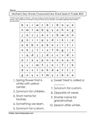 K-4 Crossword Like Puzzle