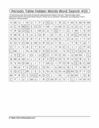Periodic Hidden Word Search#03