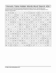 Periodic Hidden Word Search#04