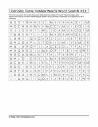 Periodic Hidden Word Search#11