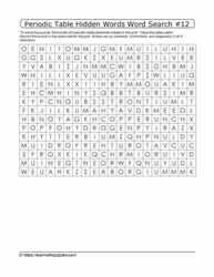 Periodic Hidden Word Search#12