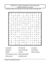 Hidden Elements Wordsearch