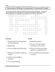 Differentiated Crossword Puzzle