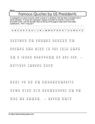 Cryptograms by US Presidents