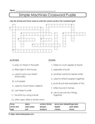 Word Bank Supports Crossword