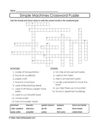 Crossword Puzzle With WordBank
