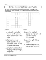 Easy Crossword Simple Machines
