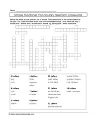 Simple Machines Freeform Crossword
