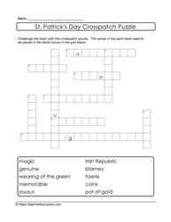 10 Words Crosspatch Puzzle St. Paddy's Day