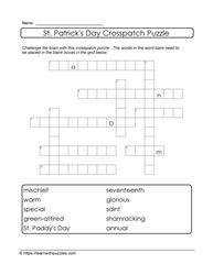 Irish Theme Crosspatch Puzzle