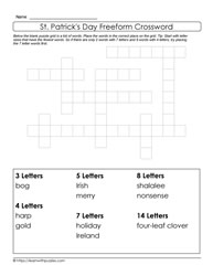 Freeform St. Paddy's Day Crossword
