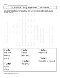 Luck of the Irish-Freeform Crossword