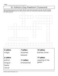 10 Words Freeform St. Paddy's Day Puzzle