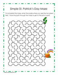 St. Paddy's Day Maze Puzzle