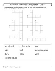 Crosspatch Summer Puzzle