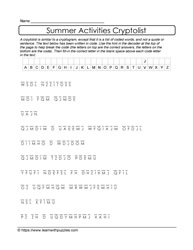 Letter Substitution Cryptolist