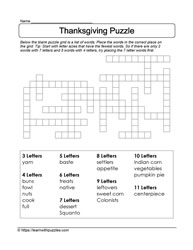 Giving Thanks Puzzle