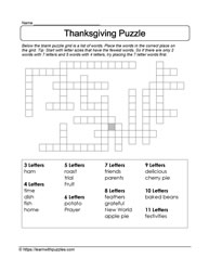 Glorious Thanksgiving Food Puzzle