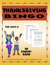 Thanksgiving Bingo Game#01