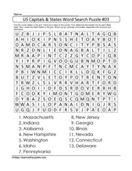 States&Capitals US Wordsearch