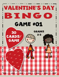 Bingo Game #01 - Valentine's Day