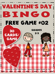 Bingo Game #02 - Valentine's Day