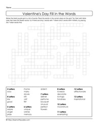 Valentine's Day Crossword Freeform