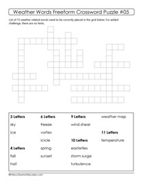 15 Weather Words Puzzle