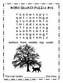 K-2 Direction Words Puzzle