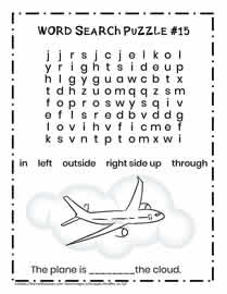 Direction Words Activity