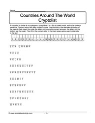 Cryptolist Puzzle - Countries